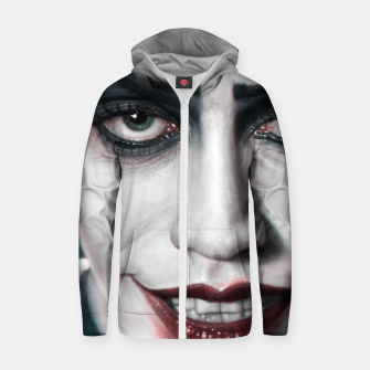 Thumbnail image of Frank N Furter Cotton zip up hoodie, Live Heroes