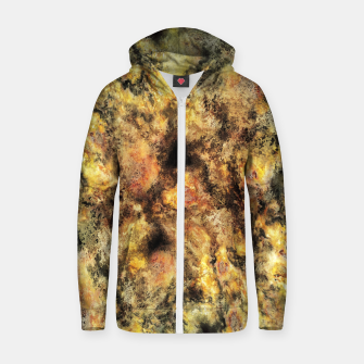 Listen to the sky Cotton zip up hoodie thumbnail image