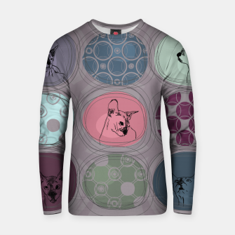 Thumbnail image of Cats&Patchwork Cotton sweater, Live Heroes