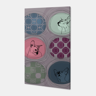 Thumbnail image of Cats&Patchwork Canvas, Live Heroes
