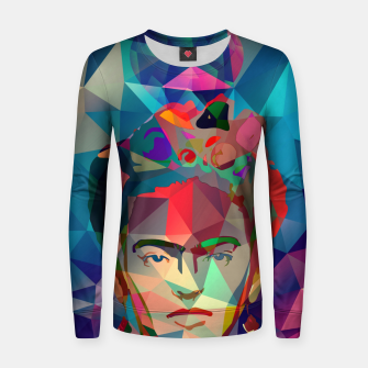 Thumbnail image of Frida Forever Woman cotton sweater, Live Heroes