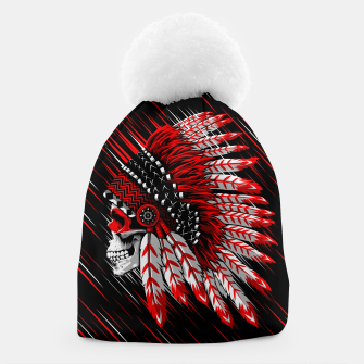 Indian Chief Skull Gorro Bild der Miniatur