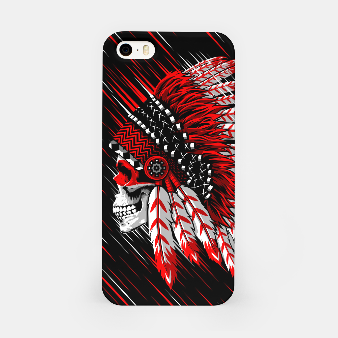 Foto Indian Chief Skull Carcasa por Iphone - Live Heroes