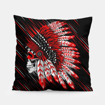 Indian Chief Skull Almohada Bild der Miniatur