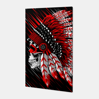 Indian Chief Skull Canvas Bild der Miniatur