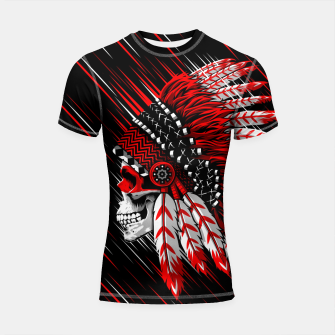 Miniaturka Indian Chief Skull Shortsleeve rashguard, Live Heroes