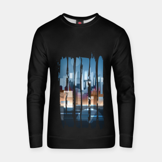 Thumbnail image of city brush strokes Cotton sweater, Live Heroes