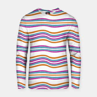 Thumbnail image of Colorful Wavy Stripes Pattern Cotton sweater, Live Heroes