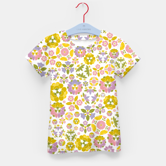 Thumbnail image of Floral pattern Kid's t-shirt, Live Heroes