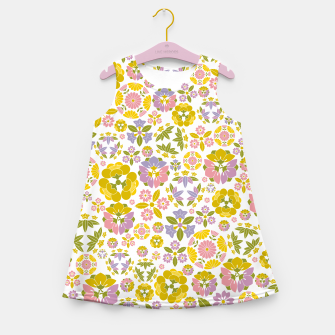 Thumbnail image of Floral pattern Girl's summer dress, Live Heroes