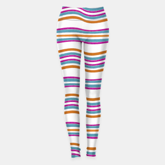 Miniatur Colorful Wavy Stripes Pattern Leggings, Live Heroes