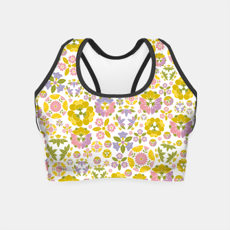 Thumbnail image of Floral pattern Crop Top, Live Heroes