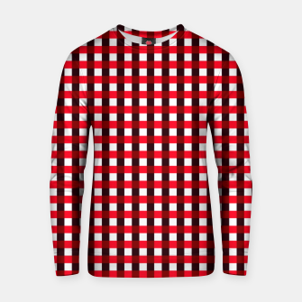 Thumbnail image of Red square pattern Sudadera de algodón, Live Heroes
