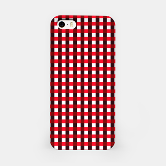 Thumbnail image of Red square pattern Carcasa por Iphone, Live Heroes
