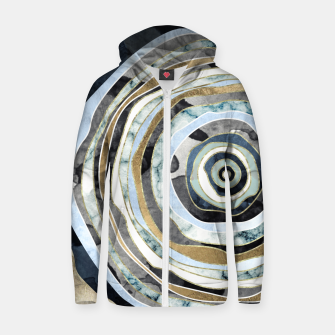 Wood Slice Abstract Cotton zip up hoodie thumbnail image