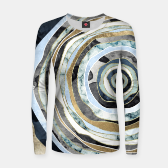 Wood Slice Abstract Woman cotton sweater thumbnail image