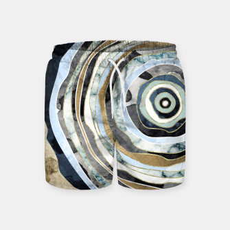 Wood Slice Abstract Swim Shorts thumbnail image
