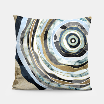 Wood Slice Abstract Pillow thumbnail image