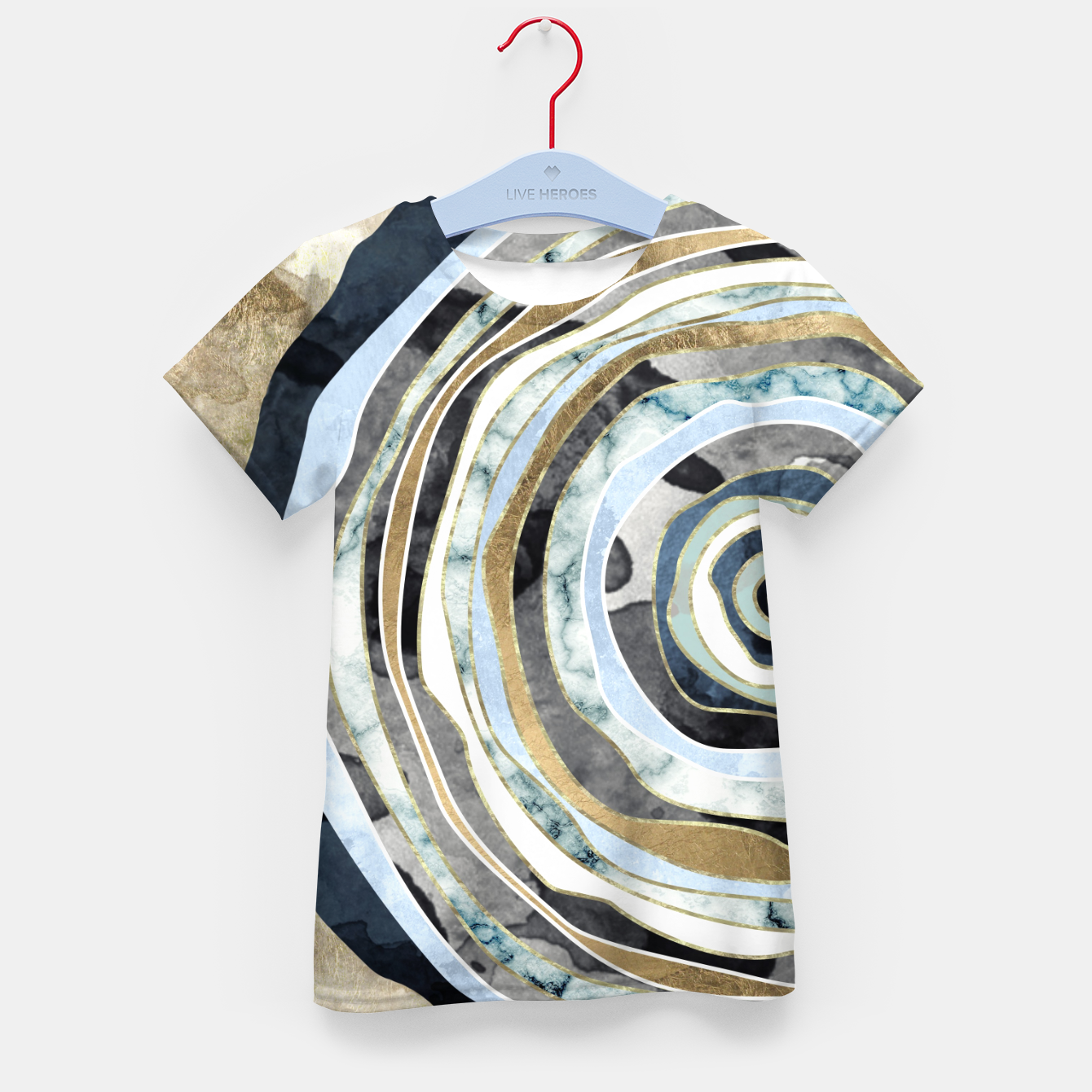 Image of Wood Slice Abstract Kid's t-shirt - Live Heroes