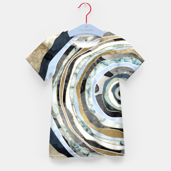Thumbnail image of Wood Slice Abstract Kid's t-shirt, Live Heroes
