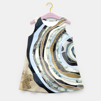 Wood Slice Abstract Girl's summer dress thumbnail image
