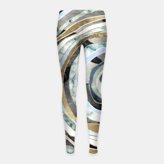 Wood Slice Abstract Girl's leggings thumbnail image