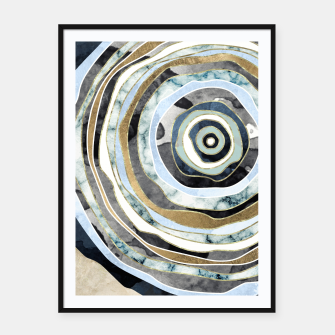 Wood Slice Abstract Framed poster thumbnail image