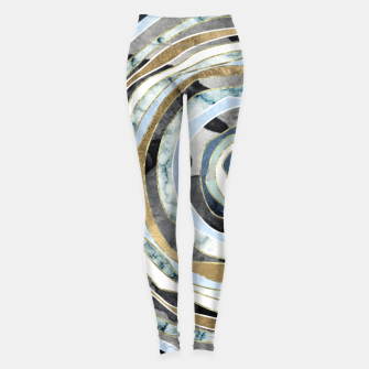 Miniatur Wood Slice Abstract Leggings, Live Heroes