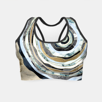 Wood Slice Abstract Crop Top thumbnail image