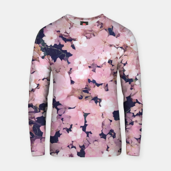 Thumbnail image of blossom blooming pink flower texture pattern abstract background Cotton sweater, Live Heroes
