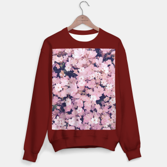 Thumbnail image of blossom blooming pink flower texture pattern abstract background Sweater regular, Live Heroes