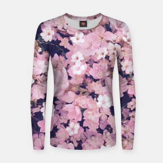 Thumbnail image of blossom blooming pink flower texture pattern abstract background Woman cotton sweater, Live Heroes