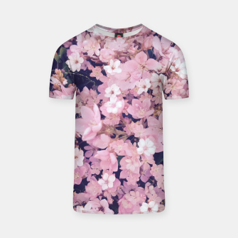 Thumbnail image of blossom blooming pink flower texture pattern abstract background T-shirt, Live Heroes