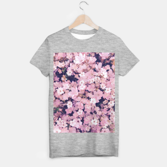 Miniature de image de blossom blooming pink flower texture pattern abstract background T-shirt regular, Live Heroes