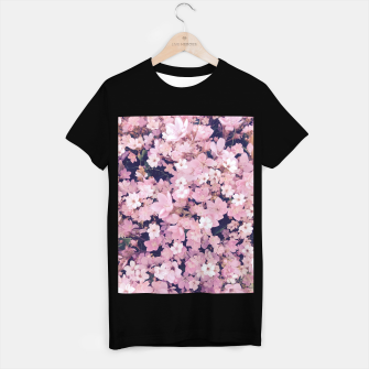 Thumbnail image of blossom blooming pink flower texture pattern abstract background T-shirt regular, Live Heroes