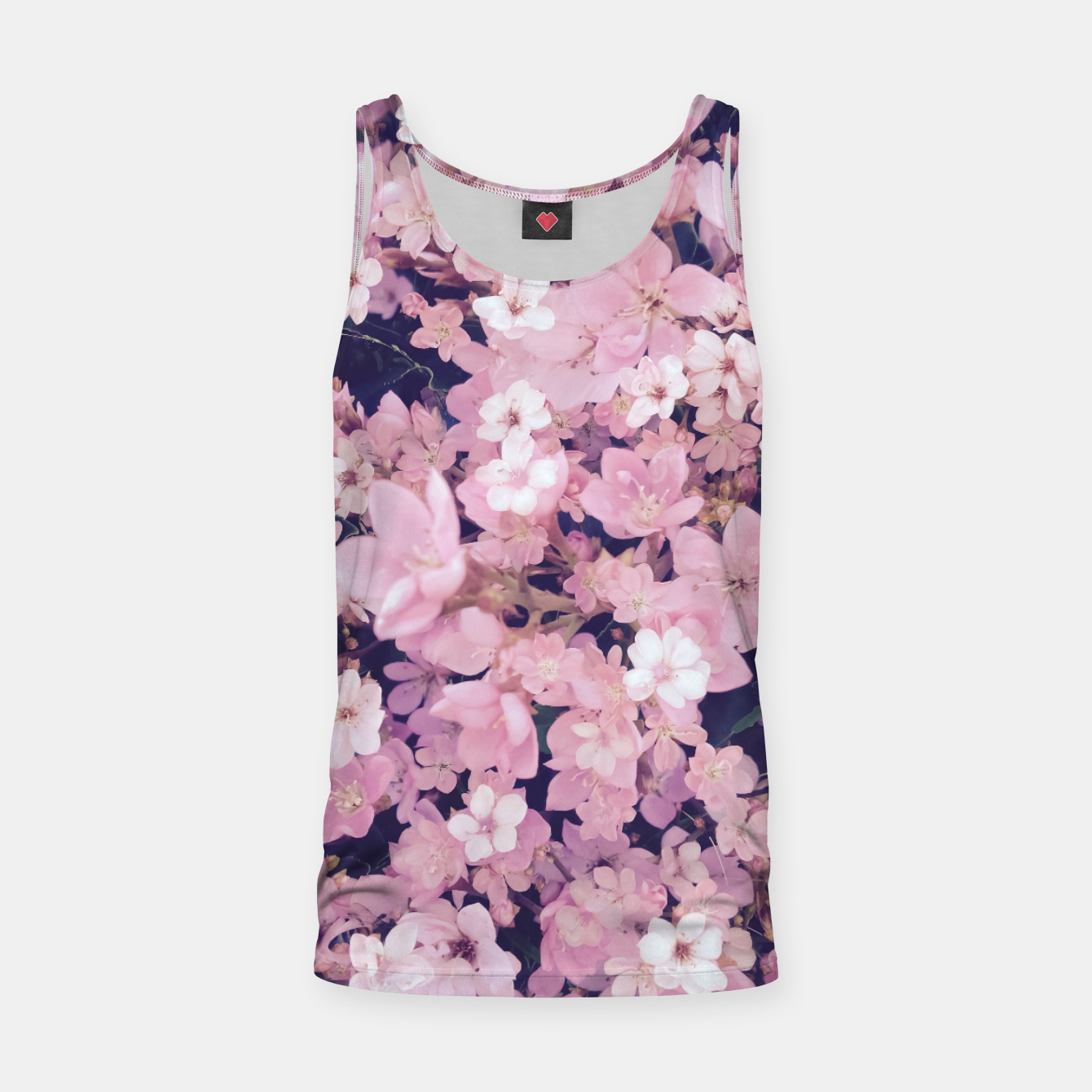 1019d0b8e9fb13 blossom blooming pink flower texture pattern abstract background Tank Top,  Live Heroes