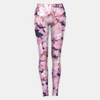 Thumbnail image of blossom blooming pink flower texture pattern abstract background Leggings, Live Heroes