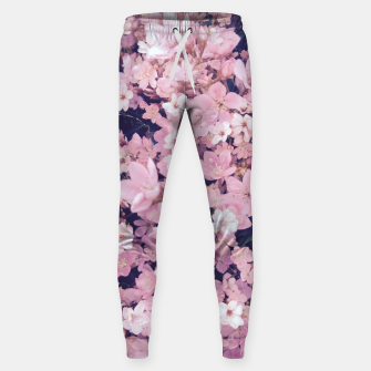 Thumbnail image of blossom blooming pink flower texture pattern abstract background Cotton sweatpants, Live Heroes