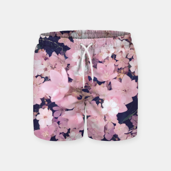 Thumbnail image of blossom blooming pink flower texture pattern abstract background Swim Shorts, Live Heroes