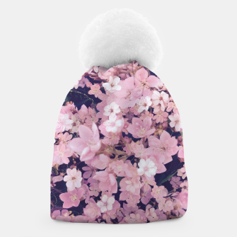 Thumbnail image of blossom blooming pink flower texture pattern abstract background Beanie, Live Heroes