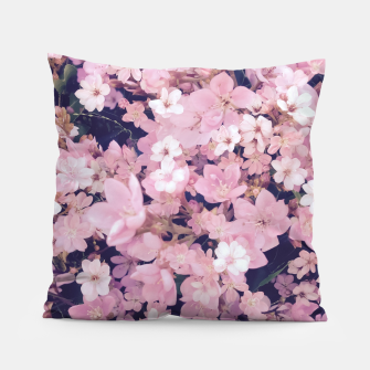 Thumbnail image of blossom blooming pink flower texture pattern abstract background Pillow, Live Heroes