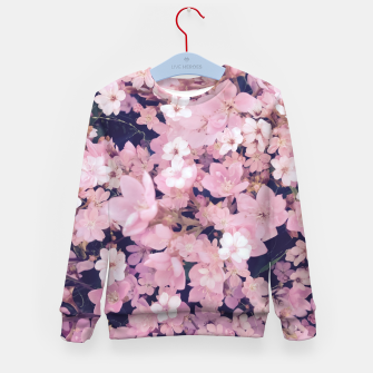 Thumbnail image of blossom blooming pink flower texture pattern abstract background Kid's sweater, Live Heroes