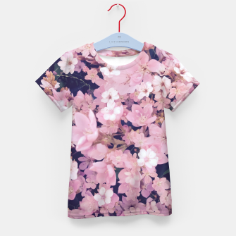 Thumbnail image of blossom blooming pink flower texture pattern abstract background Kid's t-shirt, Live Heroes