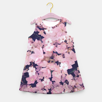 Thumbnail image of blossom blooming pink flower texture pattern abstract background Girl's summer dress, Live Heroes