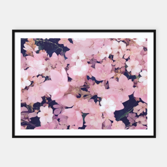 Thumbnail image of blossom blooming pink flower texture pattern abstract background Framed poster, Live Heroes