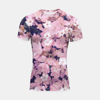 Thumbnail image of blossom blooming pink flower texture pattern abstract background Shortsleeve rashguard, Live Heroes