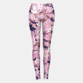 Miniatur blossom blooming pink flower texture pattern abstract background Leggings, Live Heroes