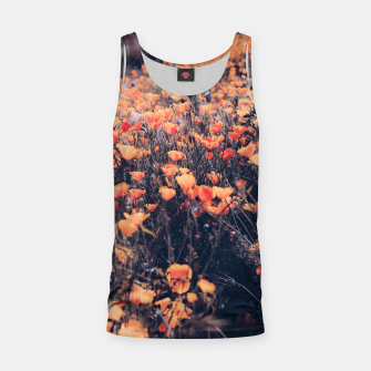 Thumbnail image of blooming yellow poppy flower field in California, USA Tank Top, Live Heroes