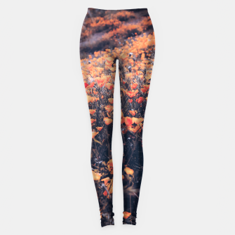 Thumbnail image of blooming yellow poppy flower field in California, USA Leggings, Live Heroes