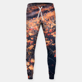Thumbnail image of blooming yellow poppy flower field in California, USA Cotton sweatpants, Live Heroes